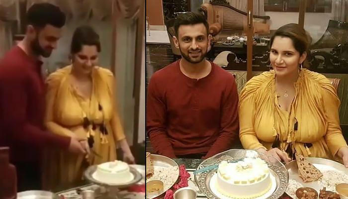 Sania Mirza And Shoaib Malik Celebrate Her Baby Shower With A 'Baby Mirza Malik' Yummylicious Cake