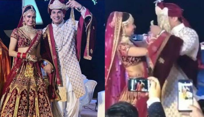 Prince Narula And Yuvika Chaudhary Had A Romantic Varmala Ceremony, The Bride Looks Like A Goddess