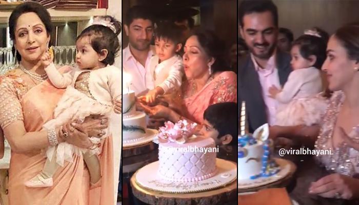 Hema Malini Cuts Her Birthday Cake With Grandchildren Radhya Takhtani And Darien Vohra, Video Inside