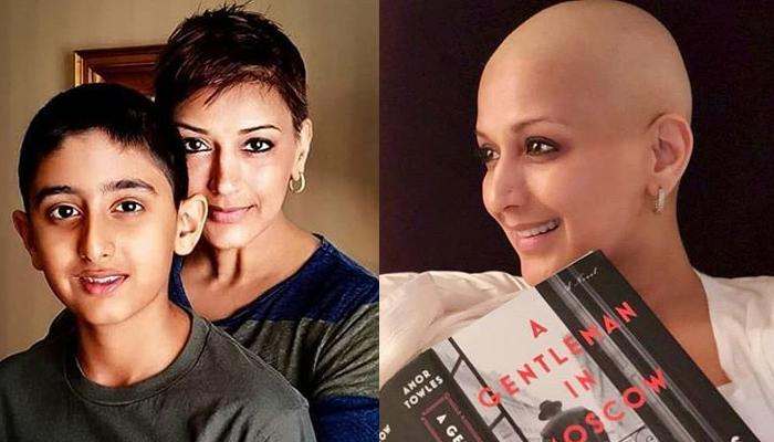 Unseen Picture Of Sonali Bendre With Her Son Ranveer Behl From Sloan Kettering Cancer Centre