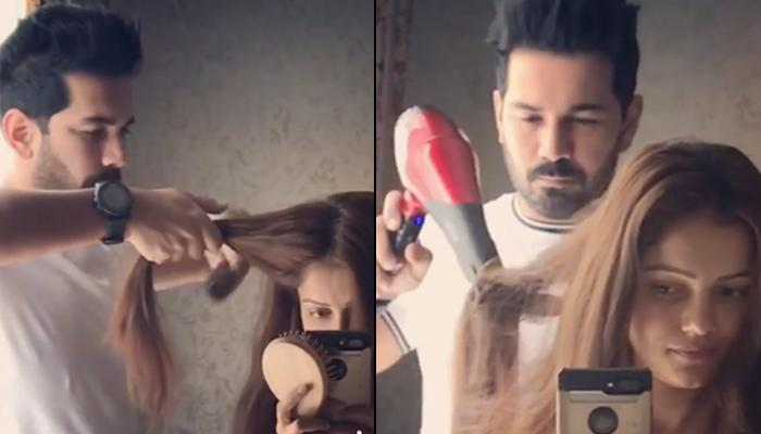 Abhinav Shukla Becoming Rubina Dilaik's Personal Hairdresser Gives Major Husband Goals, Video Inside