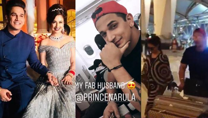 Newly-Weds Prince Narula-Yuvika Chaudhary Leave For Honeymoon And It's An Exotic Location [VIDEOS]