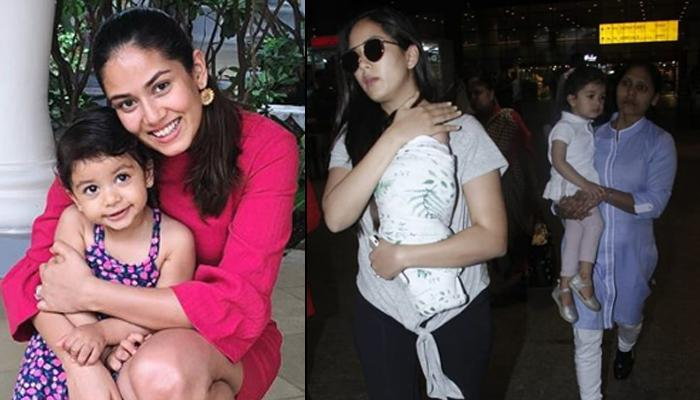 Mira Rajput Kapoor Snapped With Newborn Zain Kapoor And Misha Kapoor At The Airport, Pics Inside