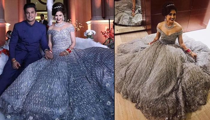Yuvika Chaudhary Reveals Number Of Months It Took To Complete Her 40 Kgs Embellished Reception Gown