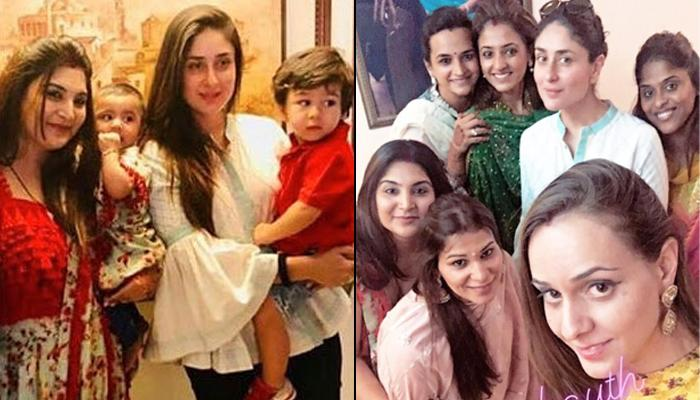 7a68f575e6c94 Kareena Kapoor Khan Celebrated Karva Chauth With Son, Taimur Ali Khan And  Her Girl Gang, Pics Inside