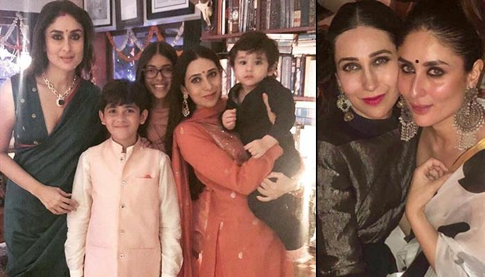 Karisma Kapoor Shares Picture Of 'Mama's And Their Babies' With Kareena And Taimur From Diwali Bash