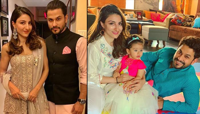 Soha Ali Khan Twins With Daughter Inaaya Naumi Kemmu On Diwali, Both Look Like A Vision In White