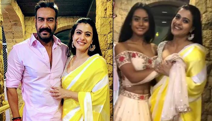 Kajol And Nysa Devgn Pose For A Perfect Diwali Capture, Ajay Devgn Cutely Photobombs Their Picture