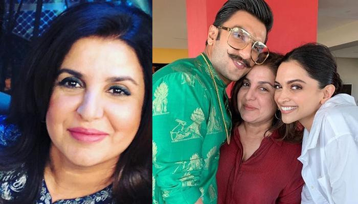 Farah Khan's 'Son-In-Law' Ranveer Singh And Daughter Deepika Padukone Showers Her With Kisses