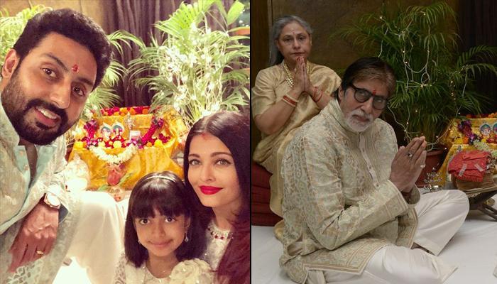 Amitabh And Jaya Bachchan Perform Diwali Puja With Abhishek, Aishwarya And Aaradhya, Pics Inside