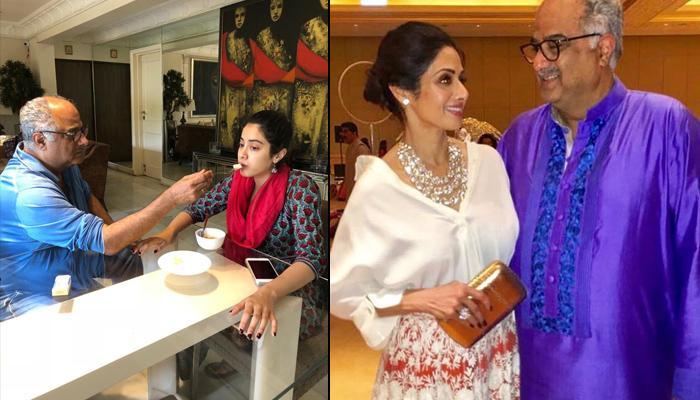Boney Kapoor Recreates Diwali Ritual By Feeding Daughter Janhvi Kapoor This Time Instead Of Sridevi