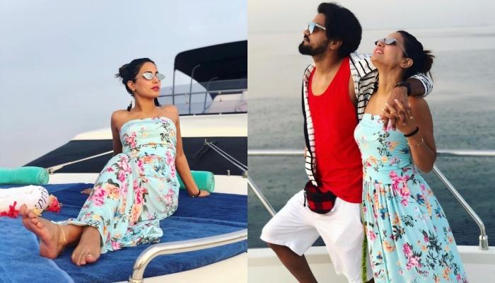 Hina Khan And Rocky Jaiswal's Romantic Pictures On Yacht From Maldives Are Winning Hearts