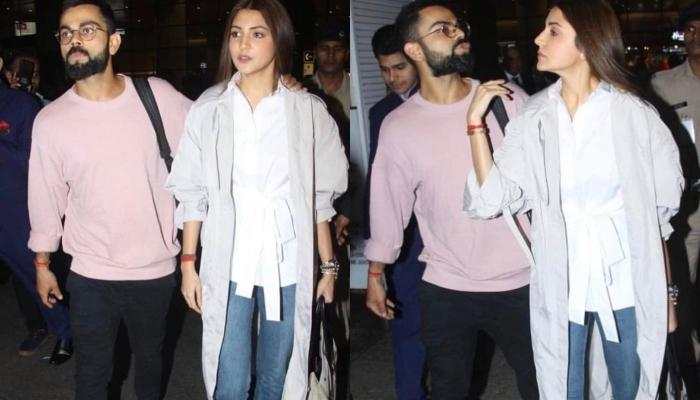 Virat Kohli Proves To Be An Ideal Husband As He Escorts Wife Anushka Sharma Safely At The Airport