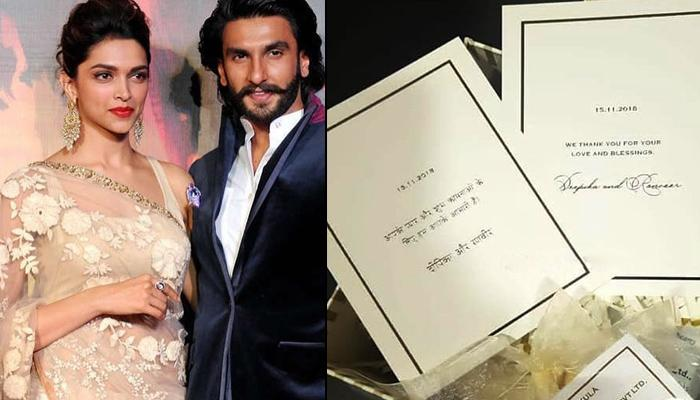 Newlyweds Ranveer Singh And Deepika Padukone Send Sweets And Personalised Note To The Well-Wishers