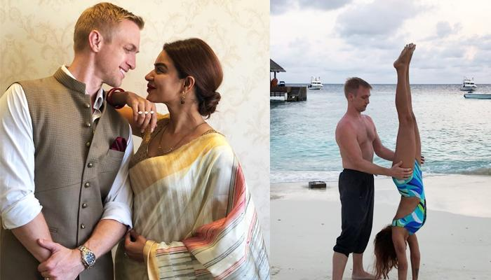 Brent Goble Turns Teacher To Aashka Goradia In Maldives Ahead Of Their First Marriage Anniversary