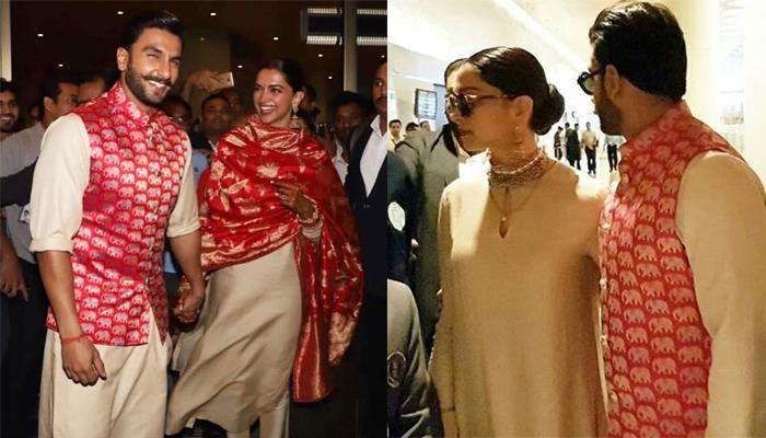 Ranveer Arrives At Mumbai Airport With Wife Deepika, Her ...