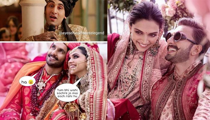 Deepika Padukone And Ranveer Singh's Hilarious Wedding Memes Are Taking Social Media By Storm