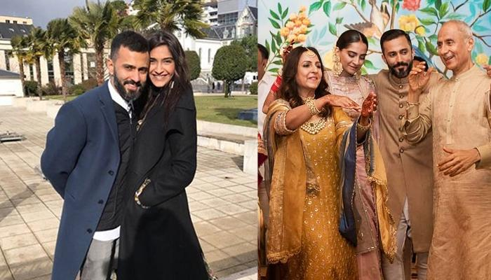Sonam Kapoor Twins In Black And Grey With Anand Ahuja And Her In-Laws, Picture Inside