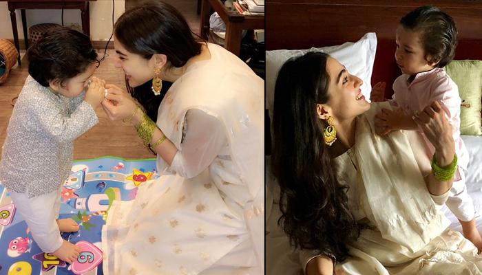 Image result for sara and taimur cute pics