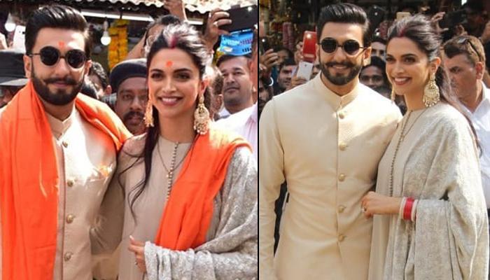 Ranveer Singh And Deepika Padukone Visit Siddhivinayak Temple Along With Families To Seek Blessings