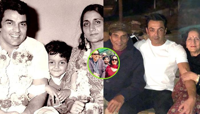 Dharmendra Spends New Year With First Wife Parkash Kaur And Sons