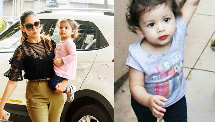 In Her School Dress, Misha Kapoor Walks Hand-In-Hand Like A Boss With Mommy Mira Rajput