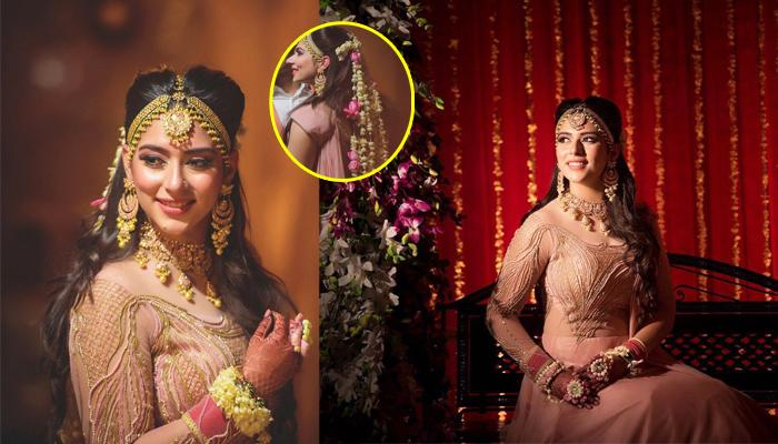 Real Bride Drishti With Her 'Hatke' Floral String Hairstyle Is Something You Will Surely Drool Over