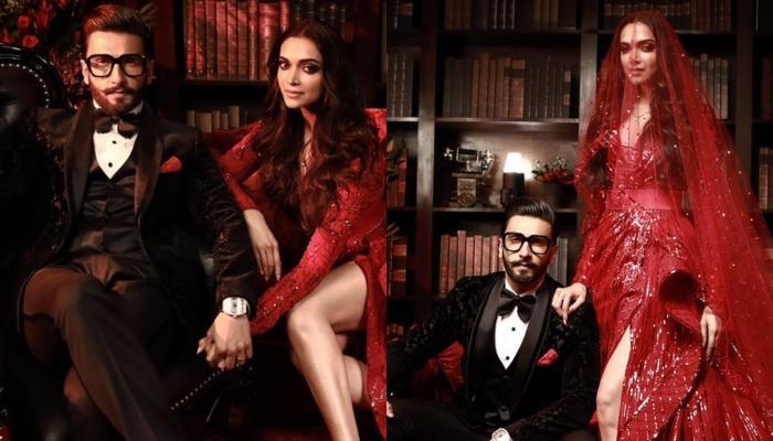 Deepika Padukone And Ranveer Singh Look Super Hot On Their Mumbai Reception In Black And Red