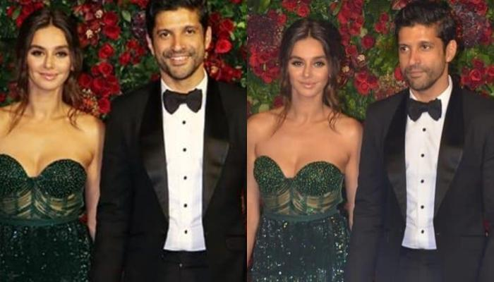 Farhan Akhtar And Shibani Dandekar Entered Hand-In-Hand At Deepika And Ranveer's Reception (Video)
