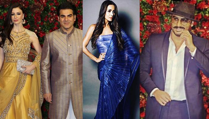 Malaika Arora's Current And Ex, Arjun Kapoor And Arbaaz Khan's Awkward Moment At DeepVeer Reception