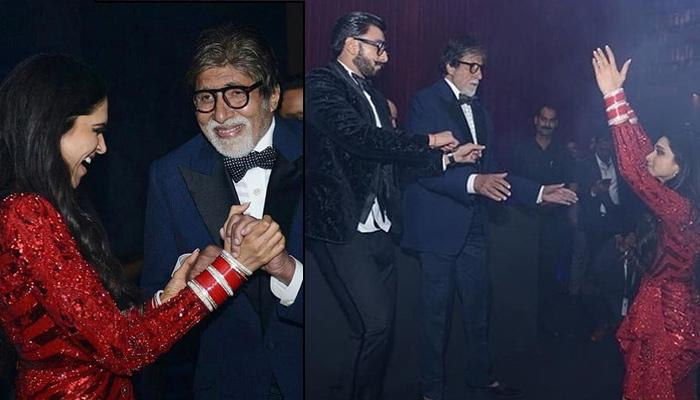Amitabh Bachchan, Aishwarya, Jaya Dances Crazily With Deepika And Ranveer At Their Mumbai Reception