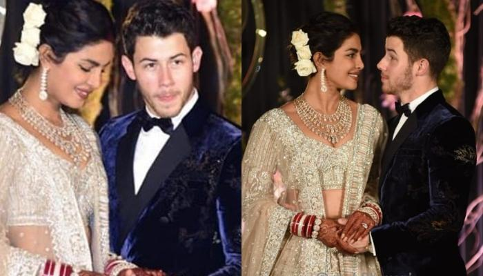 Priyanka Chopra And Nick Jonas' First Pic From Delhi Reception, Look Regal In Blue And Ivory Outfits