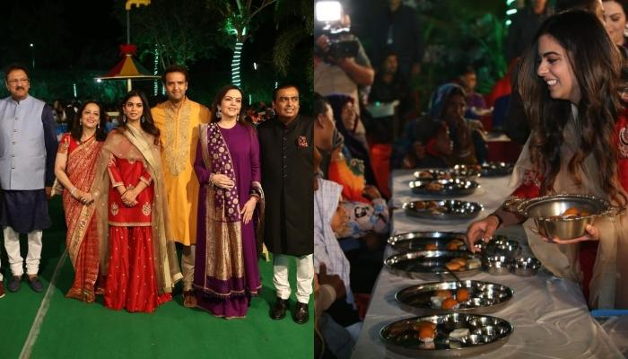 Isha Ambani's Wedding Celebrations Begin With An Auspicious 'Anna Seva', Exclusive Pictures Inside