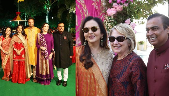 Exclusive Pic Of Hillary Clinton With Ambanis At Isha Ambani And Anand Piramal's Wedding Festivities