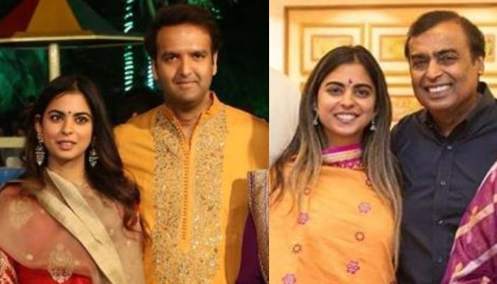 Isha Ambani Walks Hand-In-Hand With Father Mukesh Ambani And Fiance Anand Piramal For After-Party