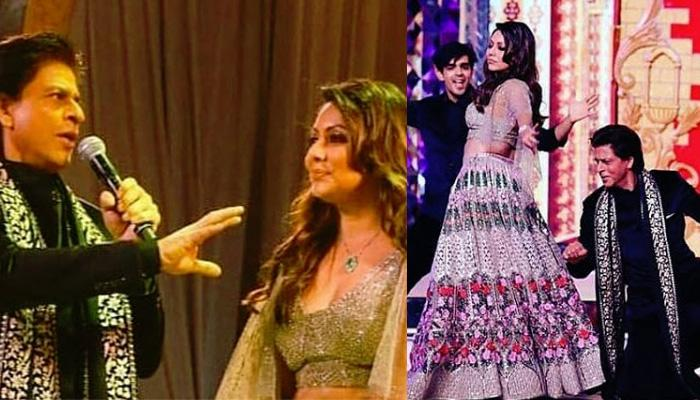 Shah Rukh Khan Dances With Wife Gauri Khan At Isha Ambani And Anand Piramal's Sangeet