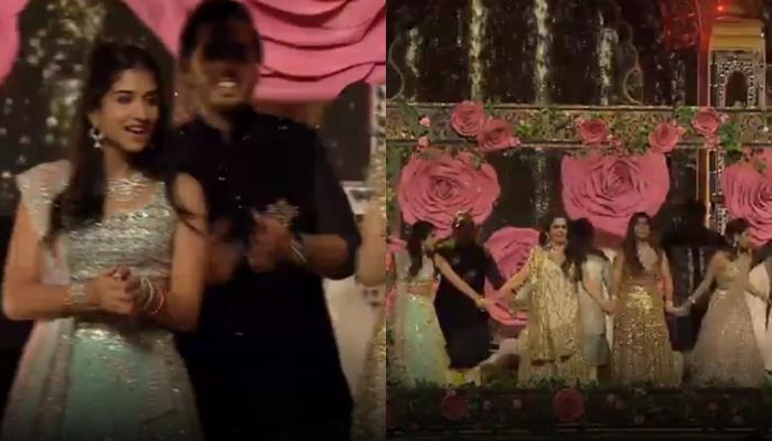 Radhika Merchant Confirms Her 'Choti Bahu' Status As She Dances With The Ambani's At Isha's Sangeet
