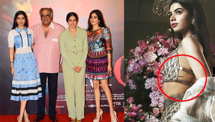 Khushi Kapoor Tattoos Birthdates Of Sridevi, Boney And Janhvi Kapoor, Close To Her Heart