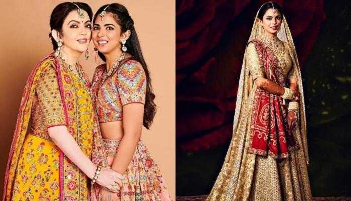 Unseen Picture Of Nita Ambani And Isha Ambani From Her Wedding, Twinning In Abu Jani Sandeep Khosla