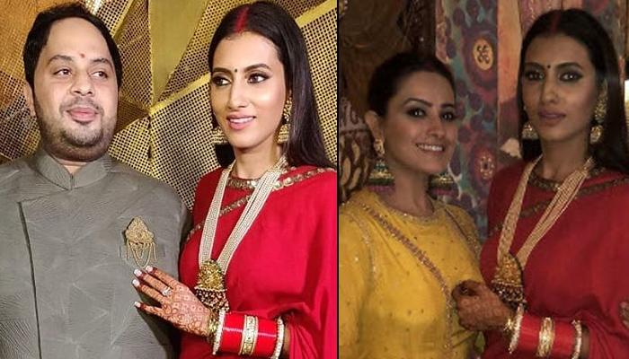 Additi Gupta's First Look Post-Marriage From Wedding Reception, Looks Stunning In Chooda And Sindoor