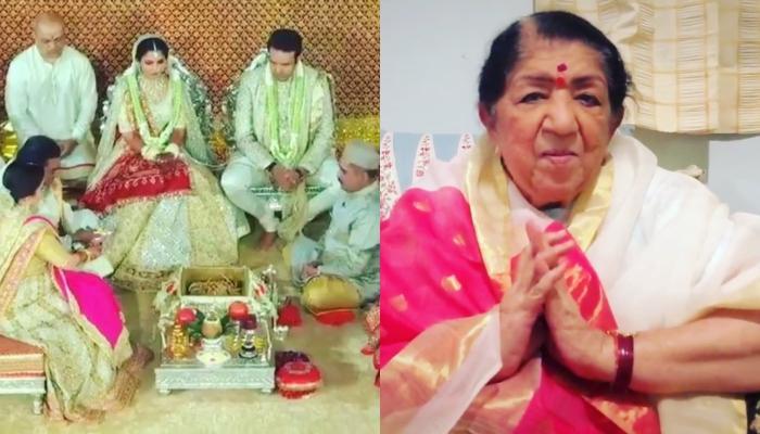 Lata Mangeshkar Showers Blessings On Isha Ambani By Singing 'Gayatri Mantra' For Her 'Kanyadaan'