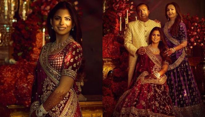 Isha Ambani, Nita Ambani And Mukesh Ambani's First Look From Her Reliance Family Reception