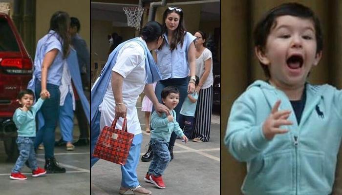 Taimur Ali Khan Run Towards The Paparazzi Leaving Mom Kareena Kapoor Khan's Hand, Video Inside