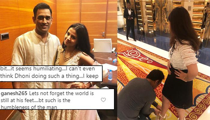 Mahendra Singh Dhoni Ties Wife Sakshi Dhoni's Shoes, This Is How Fans Reacted