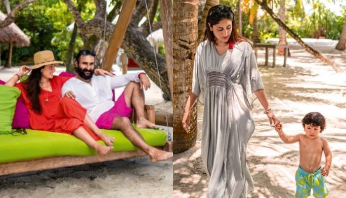 Unseen Pics Of Taimur Ali Khan, Saif Ali Khan And Kareena Kapoor Khan From Their Maldives Holiday