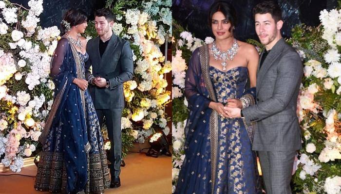 First Look Of Priyanka Chopra And Nick Jonas From Mumbai Reception, Look Dazzling In Blue Outfits