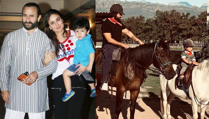Taimur Ali Khan Enjoys A Family Horse Ride With Kareena Kapoor And Saif Ali Khan In South Africa