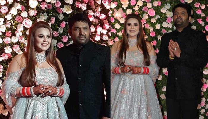 Kapil Sharma And Ginni Chatrath's First Look From Mumbai Reception, Ginni's Gown Is Unmissable