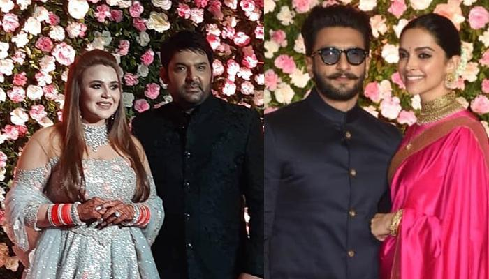 Deepika And Ranveer Look Like A Perfect Couple At Kapil Sharma And Ginni Chatrath's Mumbai Reception