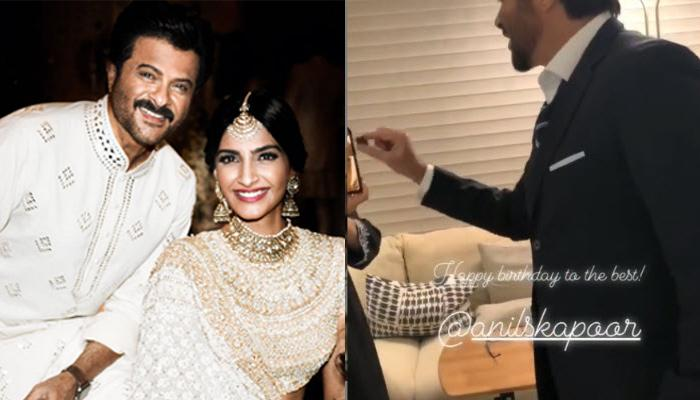 Anil Kapoor Feeds His Birthday Cake To Sonam Kapoor And Her Hubby, Anand Ahuja Over Video Call